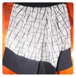 Banana Republic b&w asymmetrical skirt - 2